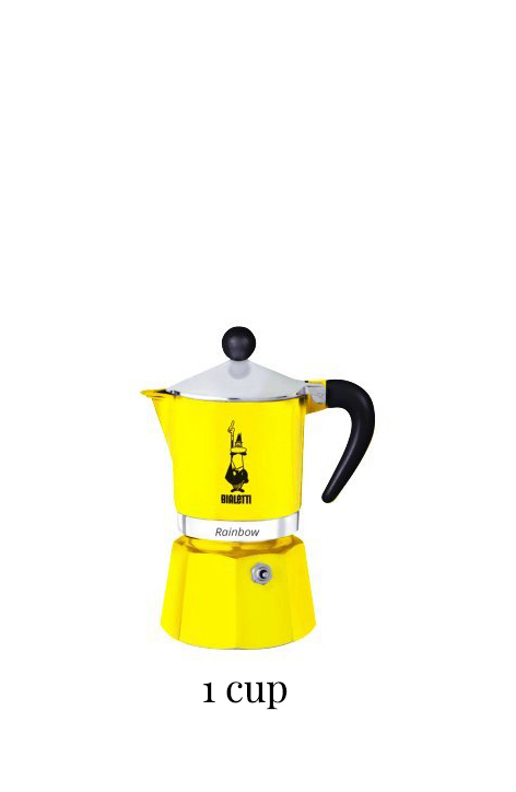 Bialetti 4981 Rainbow Espresso Maker, Yellow
